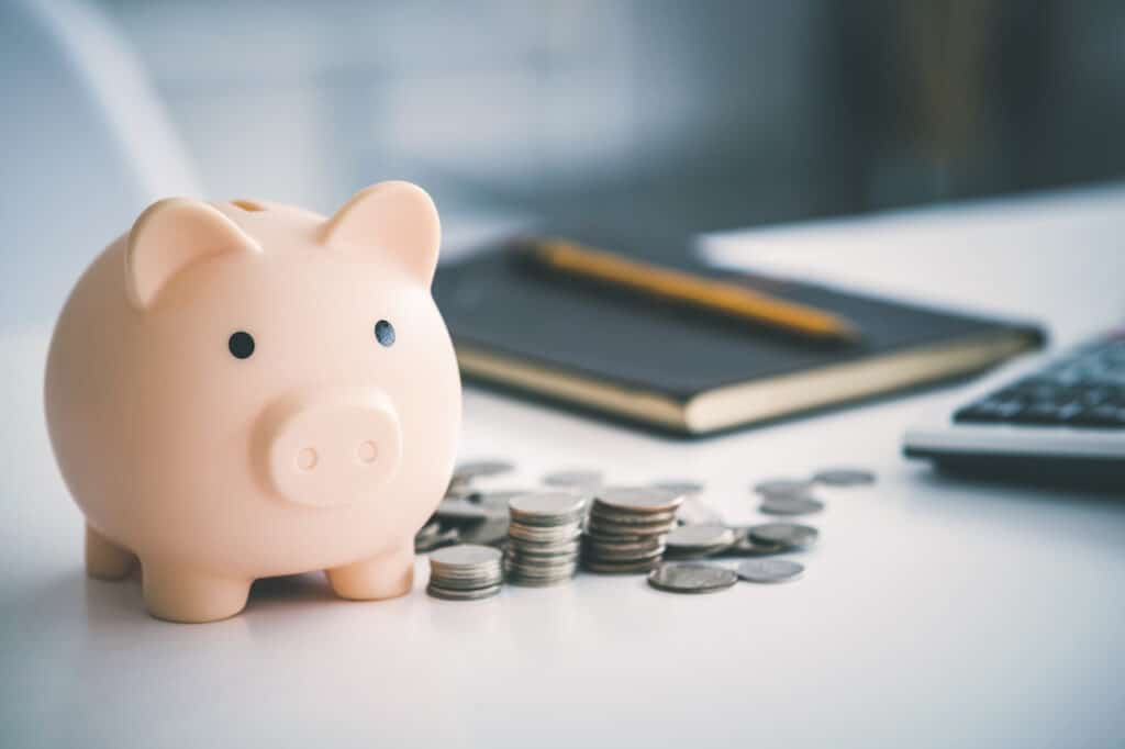 piggy bank at an IT managed services meeting